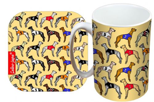 Selina-Jayne Greyhounds Limited Edition Designer Mug and Coaster Gift Set